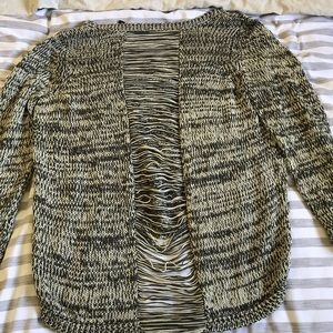 Distressed Back Sweater